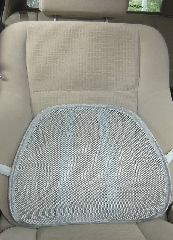 White Car Lumbar Support