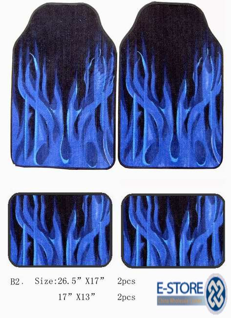Fiery Decorative Car Mats