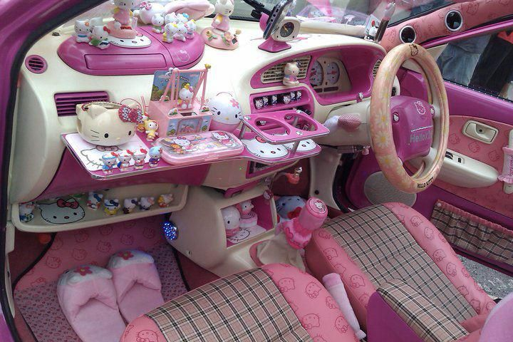 Hello Kitty Interior Car Decor