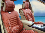 Red Leather Car Seat Pads