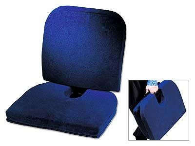Blue Memory Foam Car Seat Cushion