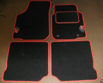 Marvelous Red And Black Car Mats