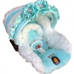 Blue Baby Car Seat Cover