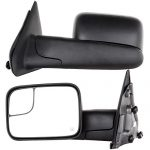 Towing Mirrors for 02-08 Dodge Ram 1500 03-09 Dodge Ram 2500 3500 Pickup Truck Power Heated Tow Folding Side View Black Mirror Pair Set: Right Passenger and Left Driver Side (02 03 04 05 06 07 08 09)