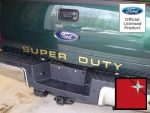 Ford SUPER DUTY Letter Inserts (thin) for Tailgate (2008-2016) F250 F350 F450 Decals Stickers (Red Reflective [Reflects Red])