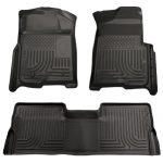 Husky Liners Front & 2nd Seat Floor Liners Fits 08-10 F250/F350/450 Crew Cab