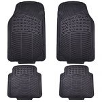 CAR PASS ZT-0045 New Arrival Spot Universal all Season Heavy Duty Rubber Floor Mats Set Fits for Vehicles/Cars/SUV, 4 Piece