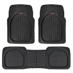 Motor Trend FlexTough Contour Liners – Deep Dish Heavy Duty Rubber Floor Mats – Black
