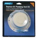 Camco 40033 Replace All Plumbing Vent Kit (Polar White)