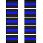 10 Pack Reflective License Plate Stickers (1.5″ x 1″) Police Thin Blue Line Vinyl Decal Stickers Honoring Police Law Enforcement Vinyl Window Laptop Tape