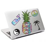 iDecoz Good Vibes Reusable Large Vinyl Decal Sticker Sheet for Your Laptop / MacBook / Pro / Air / iPad / Window / Wall / Floor / Luggage / Notebook / Water Bottle / Car & MORE!