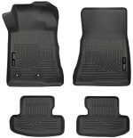Husky Liners Front & 2nd Seat Floor Liners Fits 15-17 Mustang