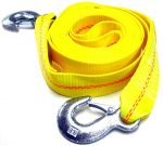 HFS (R) 2″ X 30′ , 4.5 Ton 2 Inch X 30 Ft. Polyester Tow Strap Rope 2 Hooks 10,000lb Towing Recovery