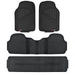 3 Row FlexTough Series Rubber Floor Mats & Liners – Heavy Duty Full Interior – Black