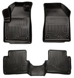 Husky Liners Front & 2nd Seat Floor Liners (Footwell Coverage) Fits 13-16 Dart
