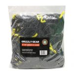 Cargo Net with 28 Durable Nylon Hooks – Large 72″ x 96″ – Stretches to 100″ x 140″ by Grizzly Gear
