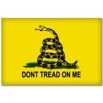 Ride in Style Don't Tread on Me Flag Car Bumper Sticker Decal 5 inch x 3 inch