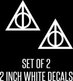Deathly Hallows Harry Potter (2 Stickers of 2″) Die Cut Vinyl Car Decal Sticker for Car Window Bumper Truck Laptop Ipad Notebook Computer Skateboard Motorcycle