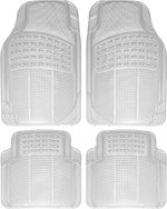 OxGord® 4pc Set Ridged Heavy Duty Rubber Floor Mats – Clear