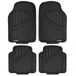 Motor Trend FlexTough Standard – 4pc Heavy Duty Rubber Floor Mats (Black)