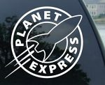 PLANET EXPRESS – Futurama – Vinyl Decal Sticker #A1458 (4.2″ (2 Pack) any color)