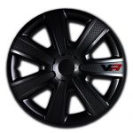 Alpena 58260 VR Carbon Wheel Cover Kit – Black – 16-Inch – Pack of 4
