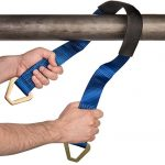 Premium Axle Strap by Vault – Tie Down Your Vehicle to a Trailer with Heavy Duty Straps – 10,000 Lbs Break Strength – 3,333 Lb Working Load – Great Accessory for Ratchet Straps, Come Along or Winch