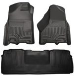 Husky Liners Front & 2nd Seat Floor Liners Fits 10-16 Ram 2500/3500 Mega Cab