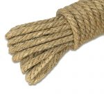 KINGLAKE 100% Natural Strong Jute Rope 64 Feet 4mm Hemp Rope Cord For Arts Crafts DIY Decoration Gift Wrapping