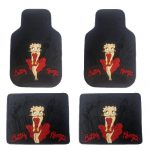 4PC Front & Rear Rubber Floor Mats Set – Betty Boop – NY New York City Sky Line