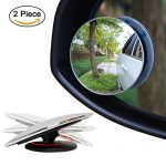Ampper Blind Spot Mirror, 2″ Round HD Glass Convex Rear View Mirror, Pack of 2