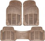 All-Weather Rubber Floor Mats – for Autos – Built to Last Beige 3 Piece Set