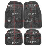 OxGord 4pc Set Tactical Heavy Duty Rubber Floor Mats – Black
