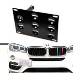 iJDMTOY Front Bumper Tow Hole Adapter License Plate Mounting Bracket For 2016-up BMW F48 X1, 2014-up BMW F26 X4, 2014-up BMW F15 X5, 2015-up BMW F16 X6 (No Parking Sensor Issue)