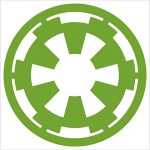 Star Wars Galactic Empire Vinyl Decal Window Sticker (2″, Lime Green)