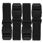 Ozark Trail 76064P 72-Inch Utility Strap with Quick-Release Buckle, Black 4-Pack