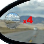 Best Blind Spot Mirror – 4 Pack Blind Spot Mirror For SUV & Blind Spot Mirrors For Cars – Great For Motorcycles, Trucks, Snowmobiles As Well – Rust Resistant Aluminum 2″ Rear View Blind Spot Mirrors 4pcs Oval Convex Self Stick – Essential Accessory