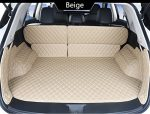 Auto mall FTM04 Waterproof Custom Fit Full Covered Trunk Mats Carpet Cargo Liners Cargo Mats Leather Boots Liner Pet Mats for Jeep Grand Cherokee 2011-2017(Beige)