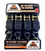 Tiger Tie Down Straps-4PK-Extra Long 20ft -500lb Load Cap, The Ultimate Utility Trailer Tiedowns, These Tie Down Straps Have A 1500lb Break Strength. Premium Heavy Duty Locking Straps Tiedowns