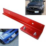 iJDMTOY JDM Red Universal Fit Front Bumper License Plate Relocator Bracket Holder Bar