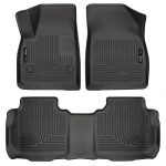 Husky Liners 99141 Black Front and 2nd Seat Floor Liner (Fits 17-17 XT5/Acadia)