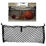 Zento Deals Black Mesh Net Hammock Cargo Storage Vehicle Organizer Premium Quality