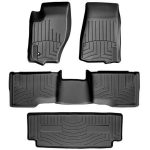 Weathertech 44576-1-2-3 Black 1st & 2nd 3rd Row Floor Liner for 2014 – 2015 Acura MDX