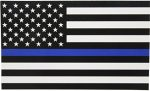 Thin Blue Line Flag Decal – 3×5 in. Black, White, and Blue American Flag Sticker for Cars and Trucks – In Support of Police and Law Enforcement Officers (1)
