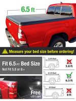 Premium TCD371011 Tri-Fold Tonneau Bed Cover Fits 2002-2017 Dodge Ram 1500; 2003-2017 Dodge Ram 2500 3500 (For Fleetside 6.5′ Bed)