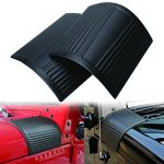 ICars Black Cowl Body Armor Cowling for 2007-2016 Jeep Wrangler JK Unlimited Rubicon Sahara Accessories Pair