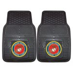 Fanmats Military  'Marines' Vinyl Heavy Duty Car Mat – 2 Piece
