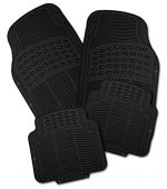 Zone Tech Universal Fit 4-Piece Classic Premium Quality All Weather Heavy Duty Vehicle Floor Mat – Full Rubber (Black)