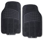 Zone Tech All Weather Rubber Semi Pattern Car Interior Front Floor Mats – 2-Piece Set Back Heavy Duty Car Interior Front Floor Mats
