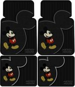 "Mickey Mouse ""Vintage"" Floor Mat 4 pc Set"